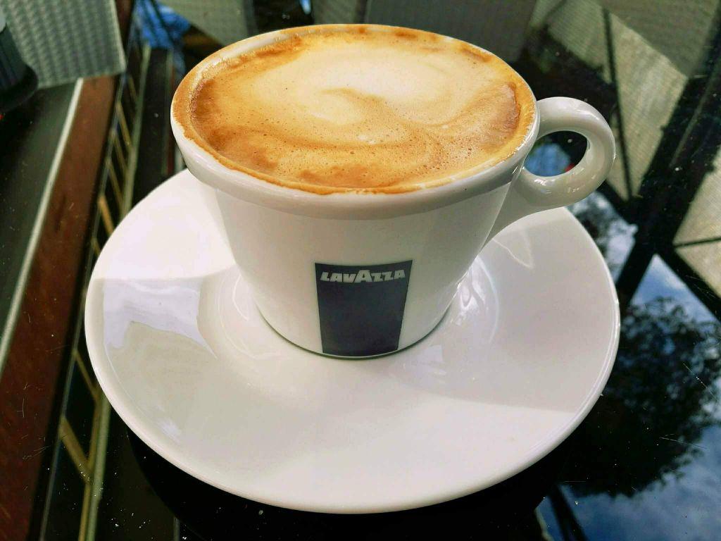 A vegan cappuccino in Rome