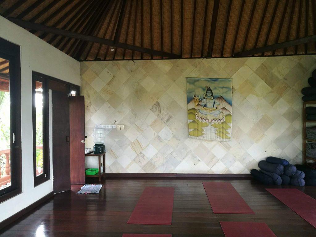 Back of yoga studio