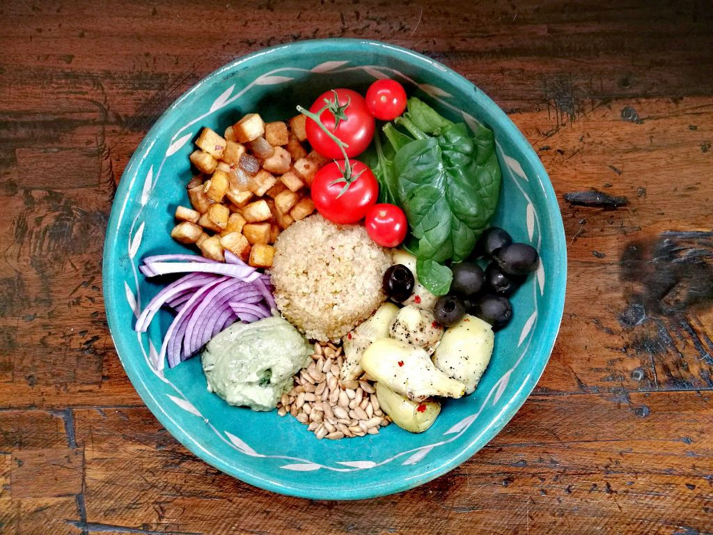 vegan bowl for vegan intermittent fasting 16/8
