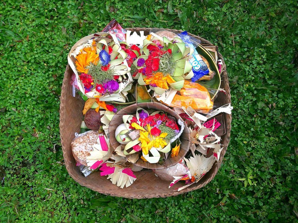 Offering at villa in Bali