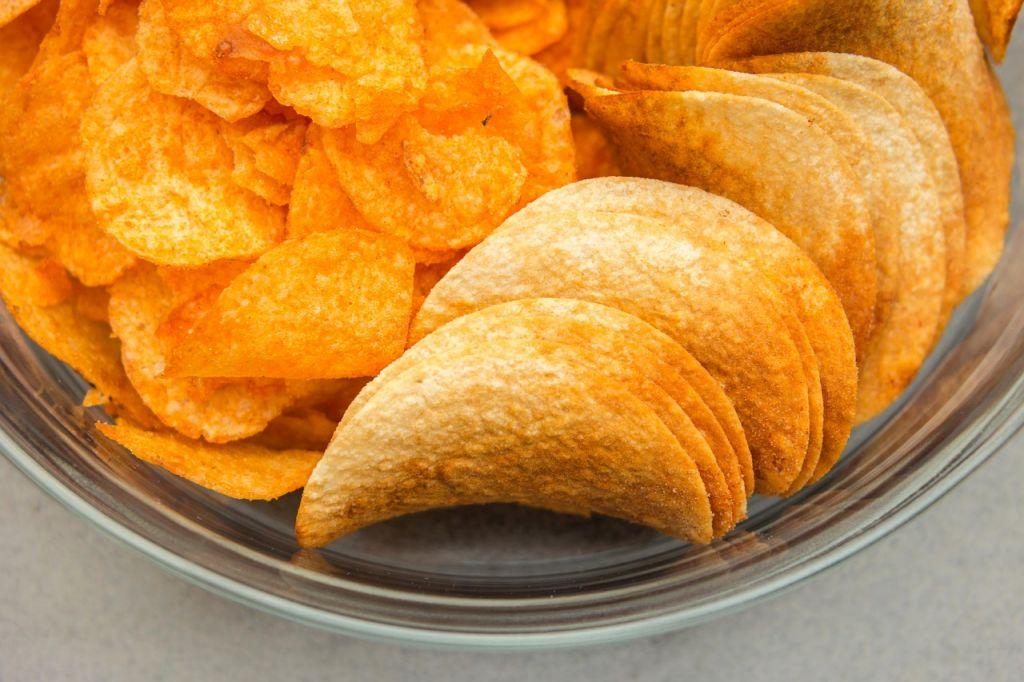 Pringles chips in a bowl