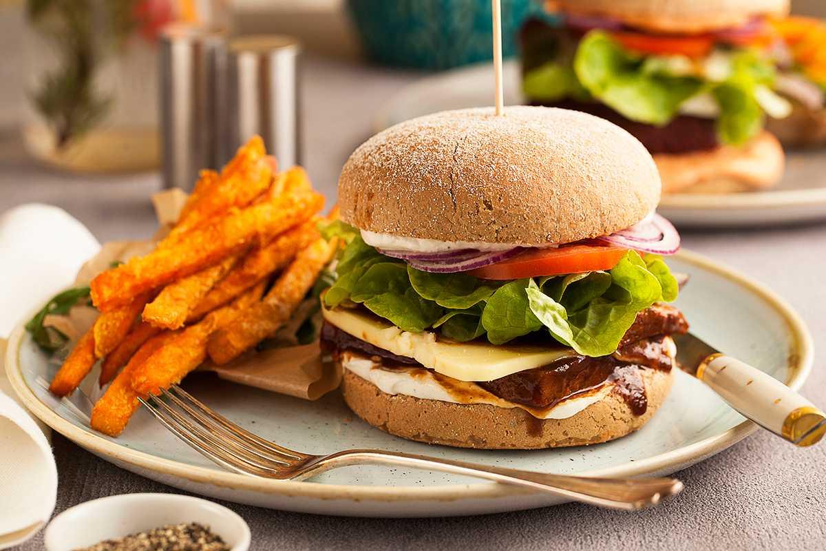 Burger at Vegan Restaurant in Krakow