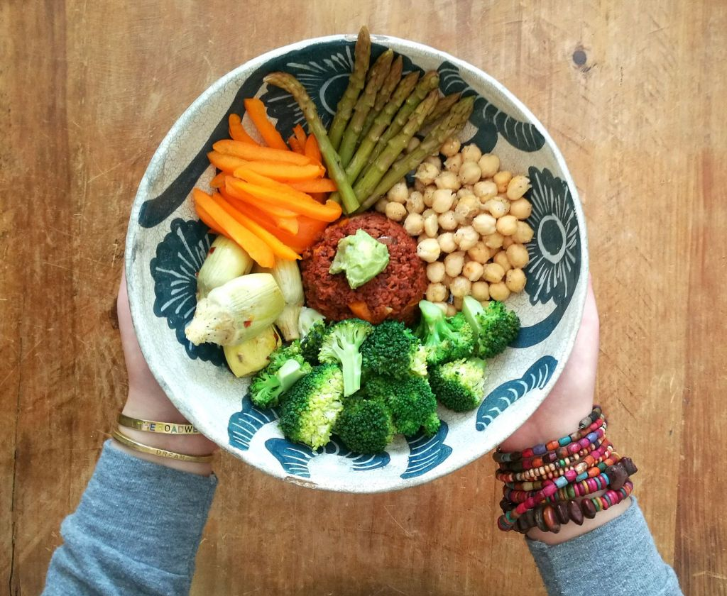 vegan Buddha bowl - vegan intermittent fasting meal