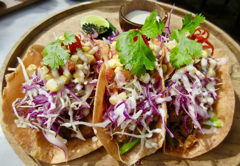 Vegan Canggu - plate of 3 tacos