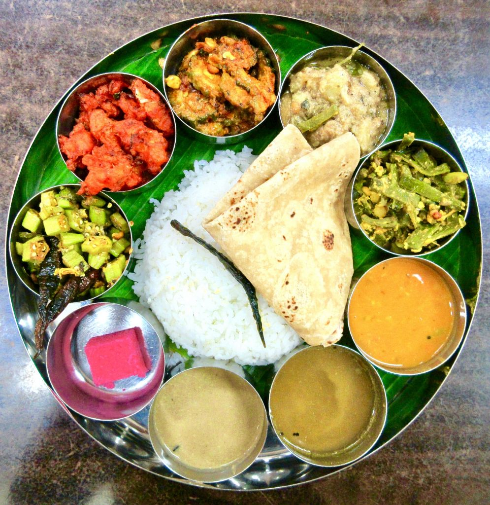 vegan Indian thali